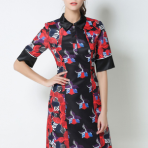 Couture Printed Shirt Dress