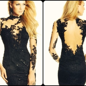 Open Back Lace Cocktail